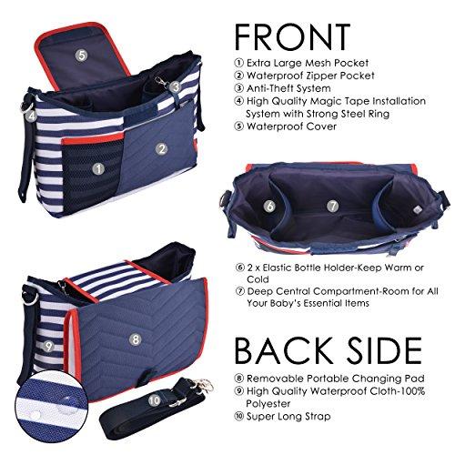 bolsos para carrito de bebe baratos azul marino